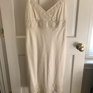 J. Crew White Cotton Spaghetti strap Dress